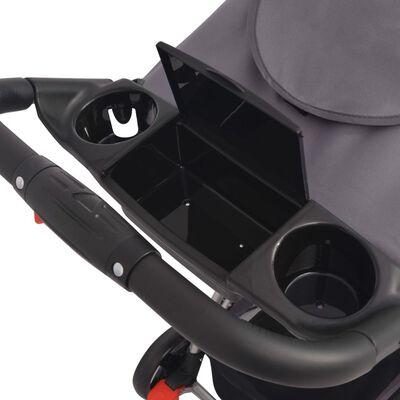 vidaXL Buggy 102x52x100 cm grijs