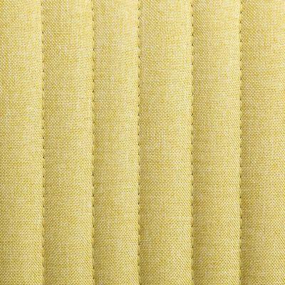 vidaXL Eetkamerstoelen 6 st stof groen