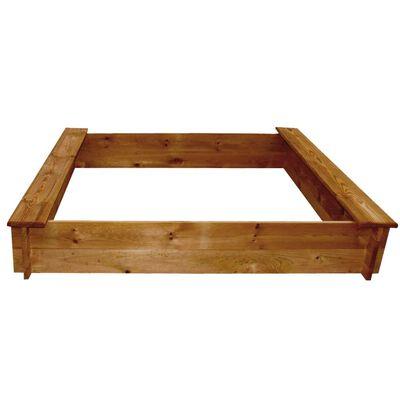 vidaXL Zandbak vierkant hout