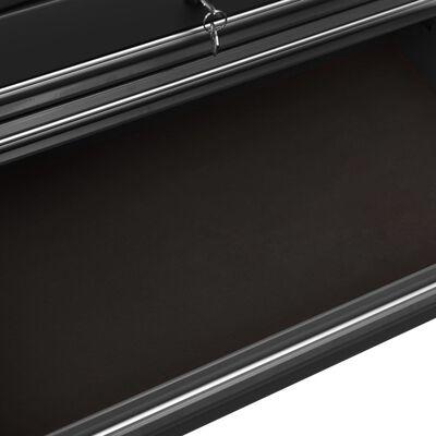 vidaXL Gereedschapswagen met 14 lades staal zwart