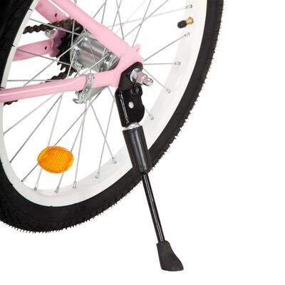 vidaXL Kinderfiets met voordrager 20 inch roze en zwart