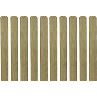vidaXL Schuttinglatten 10 st 80 cm geïmpregneerd hout