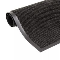 vidaXL Droogloopmat rechthoekig getuft 120x180 cm zwart