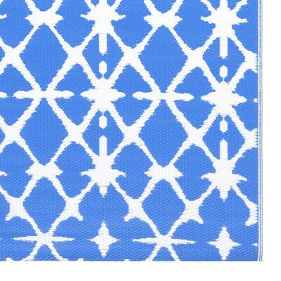 vidaXL Buitenkleed 190x290 cm PP blauw en wit
