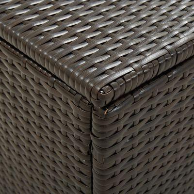vidaXL Tuinbox 200x50x60 cm poly rattan bruin