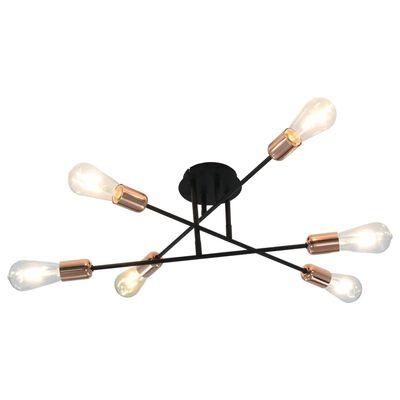 vidaXL Plafondlamp met filament peren 2 W E27 zwart en koper