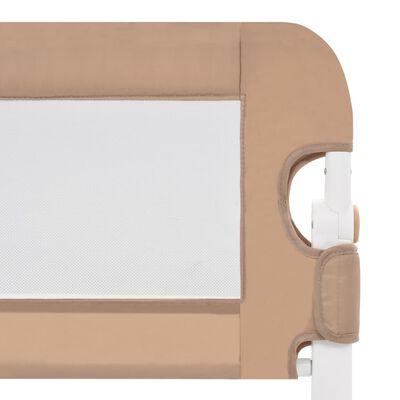 vidaXL Bedhekje peuter 102x42 cm polyester taupe