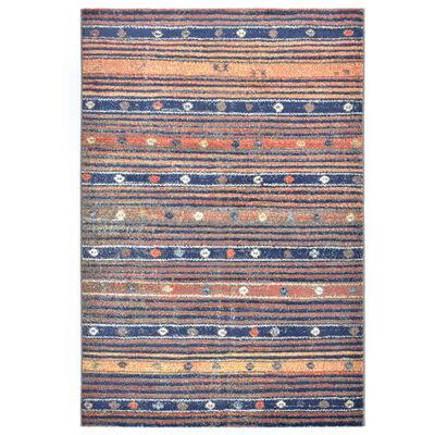 vidaXL Vloerkleed 140x200 cm PP blauw en oranje