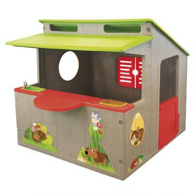 Paradiso Toys speelhuis Kiosk 139 x 118 cm bruin/groen/rood