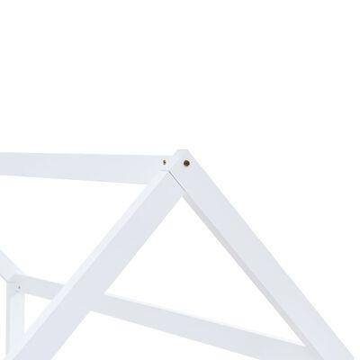 vidaXL Kinderbedframe massief grenenhout wit 80x160 cm