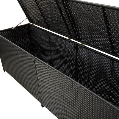 vidaXL Tuinbox 200x50x60 cm poly rattan zwart