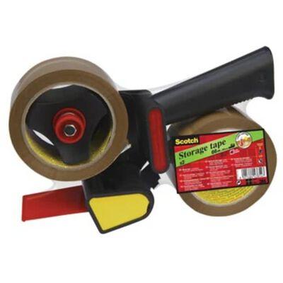 Scotch afroller H180 met 2 rollen verpakkingsplakband, ft 50 mm x 6...