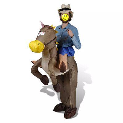 vidaXL Cowboy- en paardenkostuum opblaasbaar