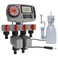 vidaXL Watertimer automatisch met 4 stations en regensensor 3 V