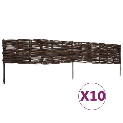 vidaXL Gazonborden 10 st 120x35 cm wilg