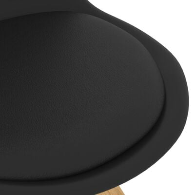 vidaXL 3-delige Eethoek zwart