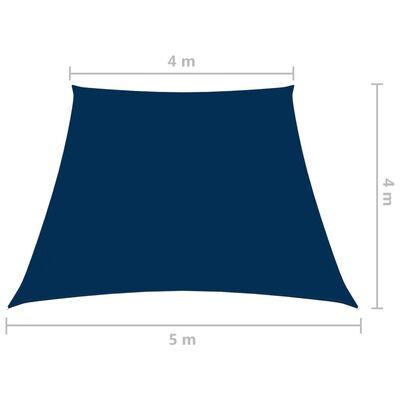 vidaXL Zonnescherm trapezium 4/5x4 m oxford stof blauw