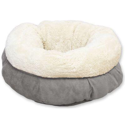 afp Honden-/kattenmand donutvormig lamswol grijs