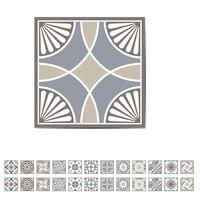 WALPLUS 24x Trapsticker spaans kalksteen 15x15 cm