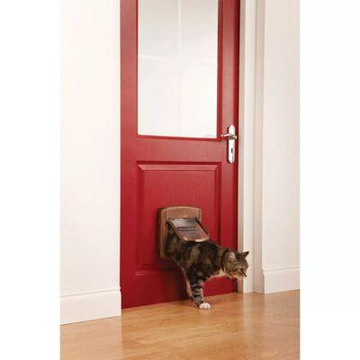 PetSafe Kattenluik magnetisch met 4 standen Deluxe 420 bruin 5006