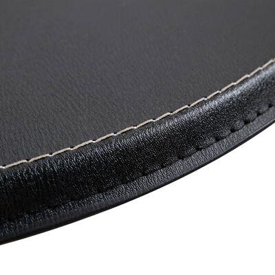 vidaXL 3-delige Barset kunstleer zwart