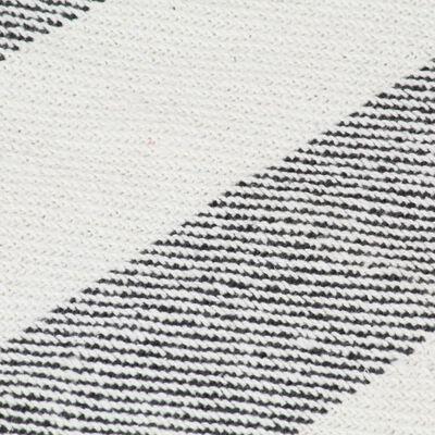 vidaXL Plaid streep 160x210 cm katoen antraciet