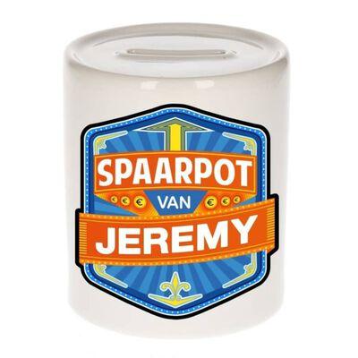 Kinder spaarpot voor Jeremy - keramiek - naam spaarpotten