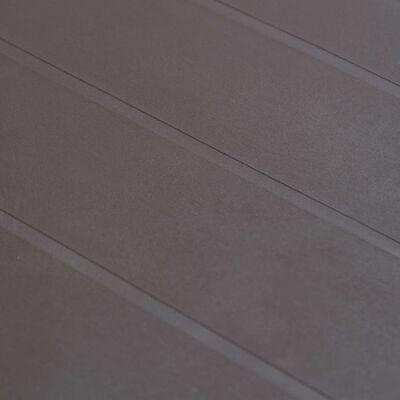 vidaXL Tuintafel 220x90x72 cm rattan-look kunststof bruin