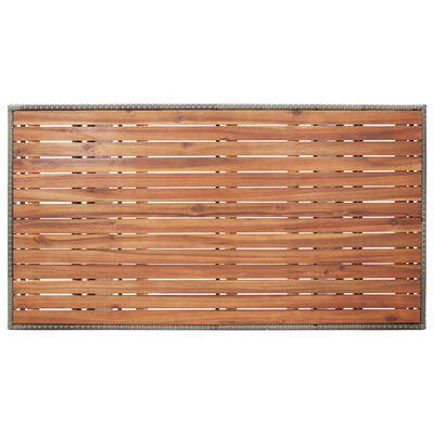 vidaXL Tuintafel 130x70x66 cm massief acaciahout grijs
