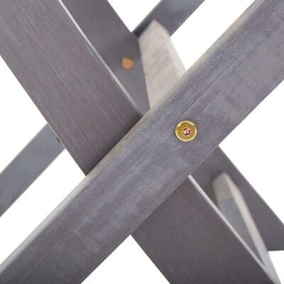 vidaXL Tuinstoelen inklapbaar 2 st massief acaciahout