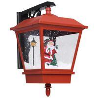 vidaXL Kerstwandlamp met LED-lampjes en kerstman 40x27x45 cm rood