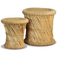 vidaXL Krukken 2 st bamboe en jute