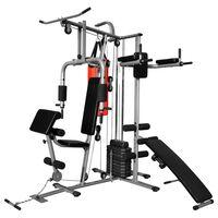 vidaXL Fitnessapparaat met 1 bokszak multifunctioneel 65 kg