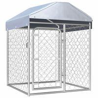 vidaXL Hondenkennel voor buiten met dak 100x100x125 cm