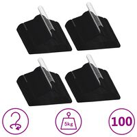 vidaXL 100-delige Kledinghangerset anti-slip fluweel zwart