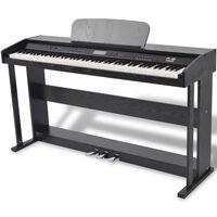 vidaXL Digitale piano met pedalen 88 toetsen zwart
