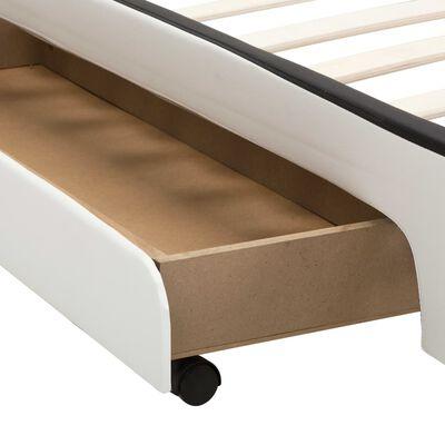 vidaXL Bedframe met LED kunstleer wit 160x200 cm