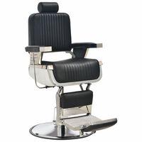 vidaXL Kappersstoel 68x69x116 cm kunstleer zwart