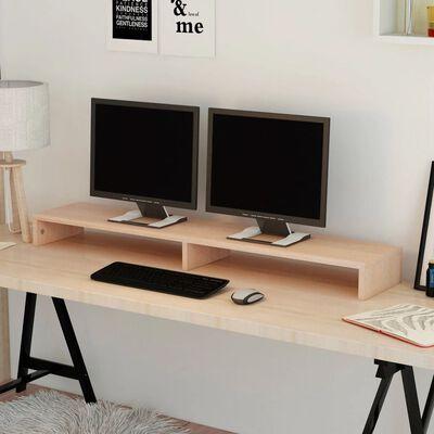 vidaXL TV-/monitorstandaard spaanplaat 118x23,5x9 cm beige