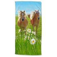Good Morning Strandlaken HORSES 75x150 cm meerkleurig
