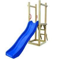 vidaXL Speelhuis met glijbaan en ladder 237x60x175 cm grenenhout