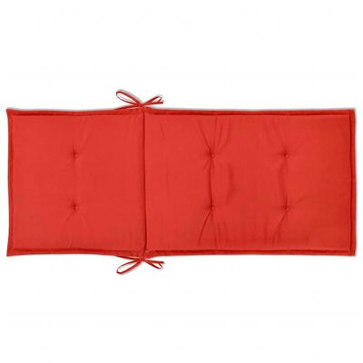 vidaXL Tuinstoel kussens rood 120x50x3 cm 4 st