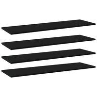 vidaXL Wandschappen 4 st 100x30x1,5 cm spaanplaat zwart