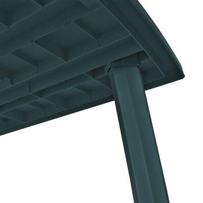 vidaXL Tuintafel 210x96x72 cm kunststof groen