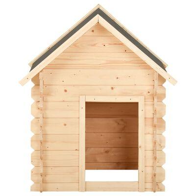 vidaXL Hondenhok 100x80x100 cm 14 mm massief grenenhout