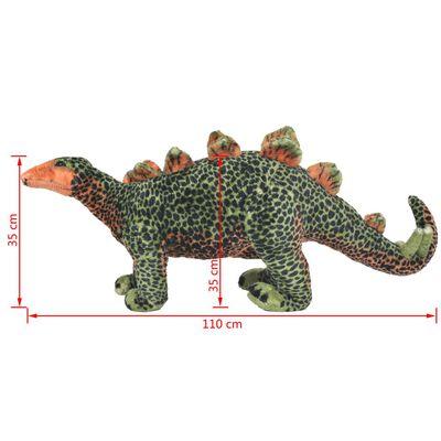 vidaXL Speelgoeddinosaurus staand XXL pluche groen en oranje