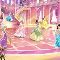 Komar Fotobehang Glitze Party Princess 368x254 cm roze