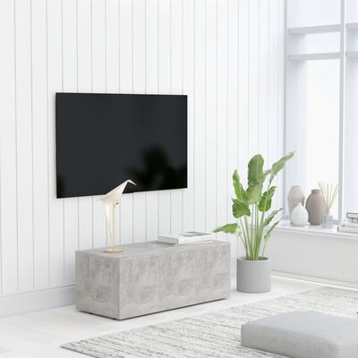 vidaXL Tv-meubel 80x34x30 cm spaanplaat betongrijs