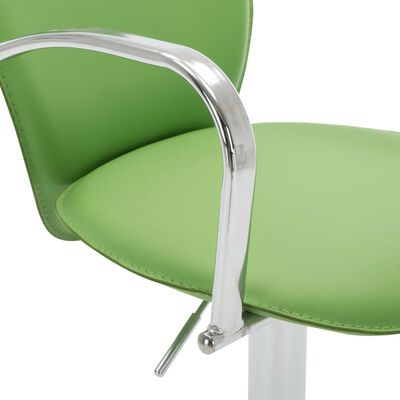vidaXL Barkruk met armleuning kunstleer groen