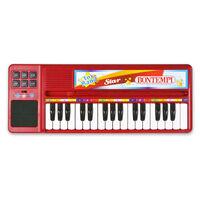 Bontempi Keyboard elektronisch met 32 toetsen rood